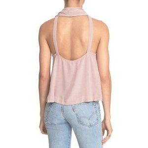 Free People City Lights Open Back Tank Top
